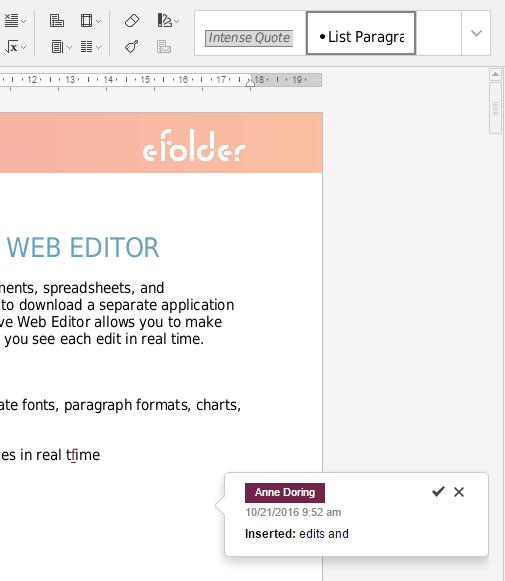 screenshot of collaborative web editor